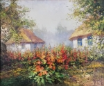 Józef ŁĄCKI Pejzaż z malwami
