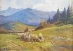 Michał STAŃKO Pejzaż górski z owcami