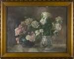 Leon KOWALSKI Róże w dwóch wazonach