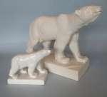 Para figurek niedźwiedzi polarnych - Józefów