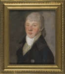 Artysta  NIEZNANY Portret mężczyzny we fraku z białym halsztukiem