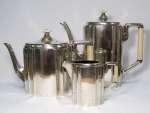 Srebrny komplet art deco do kawy i herbaty