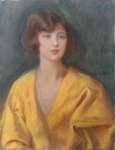 Teodor AXENTOWICZ Portret kobiety w żółtej sukni