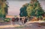 Kazimierz LASOCKI Pejzaż z krowami