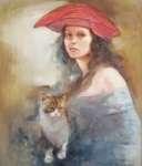 Małgorzata SADOWSKA-MAJEWSKA Dziewczyna z kotem