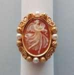 Pierścionek złoty z kameą