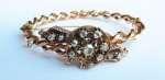 Złota bransoleta z diamentami, ok. 1890