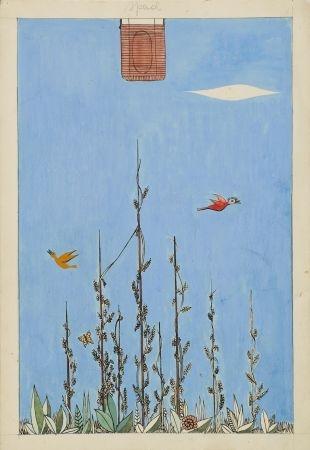 108. Pejzaż z ptakami