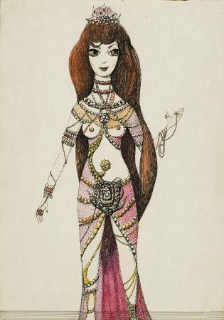 5. Kobieta z długimi włosami,w stroju wschodnim
