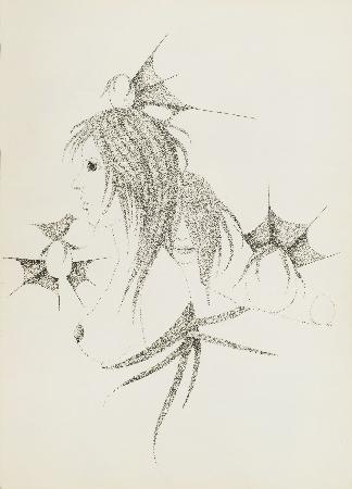 46. Bez tytułu - dziewczyny z ptakiem