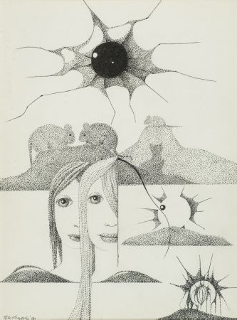 7. Kompozycja - dziewczyny z cieniami myszy i kota