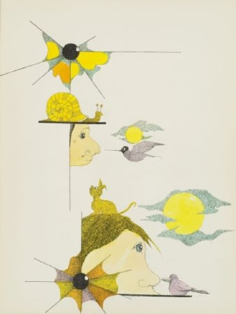 41. Projekt scenograficzny - kompozycja z parasolem i symbolami lata