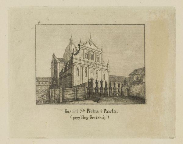 Cykl grafik: Kościoły Krakowskie. Kościół świętego Piota i Pawłą (przy ulicy Grodzkiej)