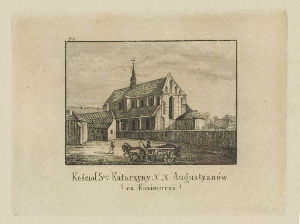 Cykl grafik: Kościoły Krakowskie. Kościół świętej Katarzyny XX. Augustianów (na Kazimierzu)