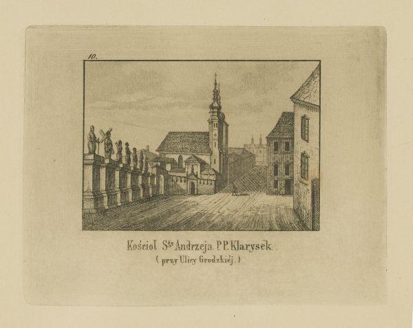 Cykl grafik: Kościoły Krakowskie. Kościół świętego Andrzeja PP. Klarysek (przy ulicy Grodzkiej)