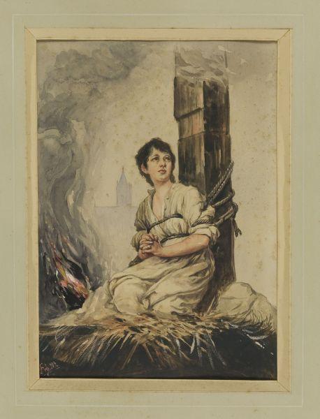 Joanna d'Arc na stosie, 1904