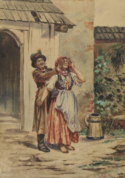 Scena rodzajowa przed domem, 1904