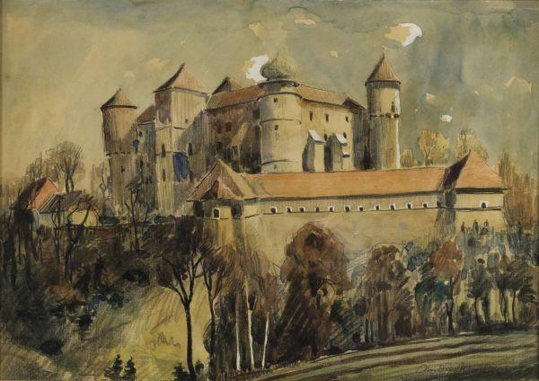 Widok na zamek w Wiśniczu