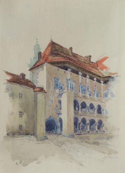 Dziedziniec Zamku królewskiego na Wawelu