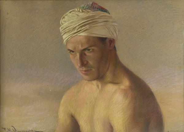 Portret młodego mężczyzny w turbanie