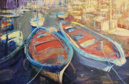 Łódki w Porticello