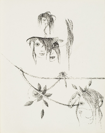 109. Kompozycja surrealistyczna z twarzą dziewczyny