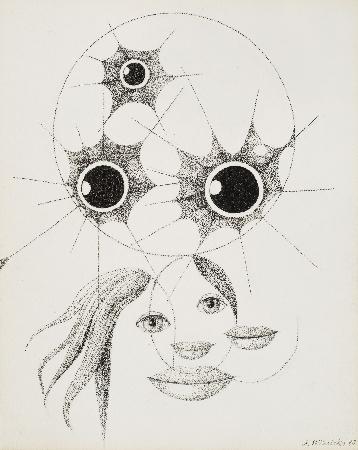 36. Kompozycja z pająkami i ustami