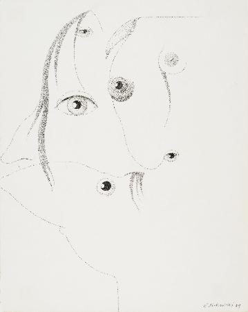 43. Bez tytułu - kompozycja surrealistyczna z twarzą dziewczyny