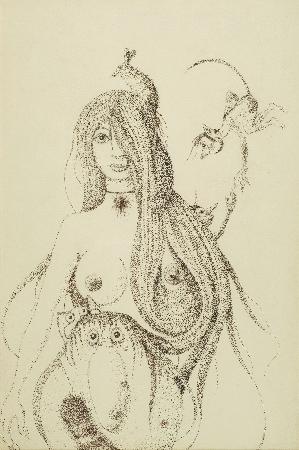 28. Kompozycja - dziewczyna z myszką