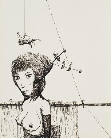 64. Kobieta z kokiem