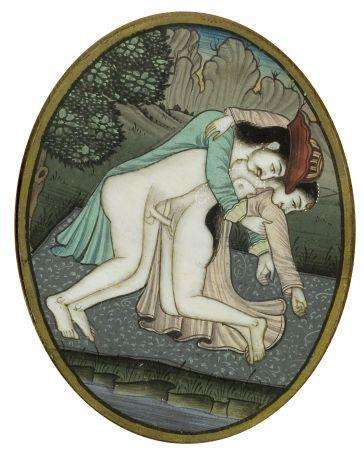Miniatura erotyczna, Indie?, XX w.