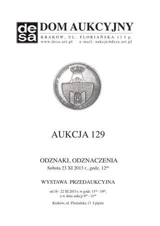Aukcja 129 - Medale, odznaki, odznaczenia, monety, varia