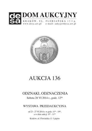Aukcja 136 - Medale, odznaki, odznaczenia, monety, varia