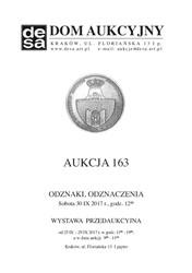 Aukcja 163 - Medale, odznaki, odznaczenia, monety, varia