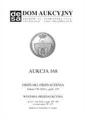 Aukcja 168 - Medale, odznaki, odznaczenia, monety, varia